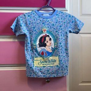 Disney vintage Snow White kids blue floral t-shirt